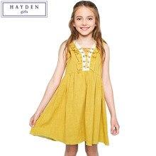 HAYDEN Girls Ruffle Dress Kids Girl Summer Dresses New Arrivals 2017 Sleeveless Sundress Beach Boho Dress Size 7 to 14 Years