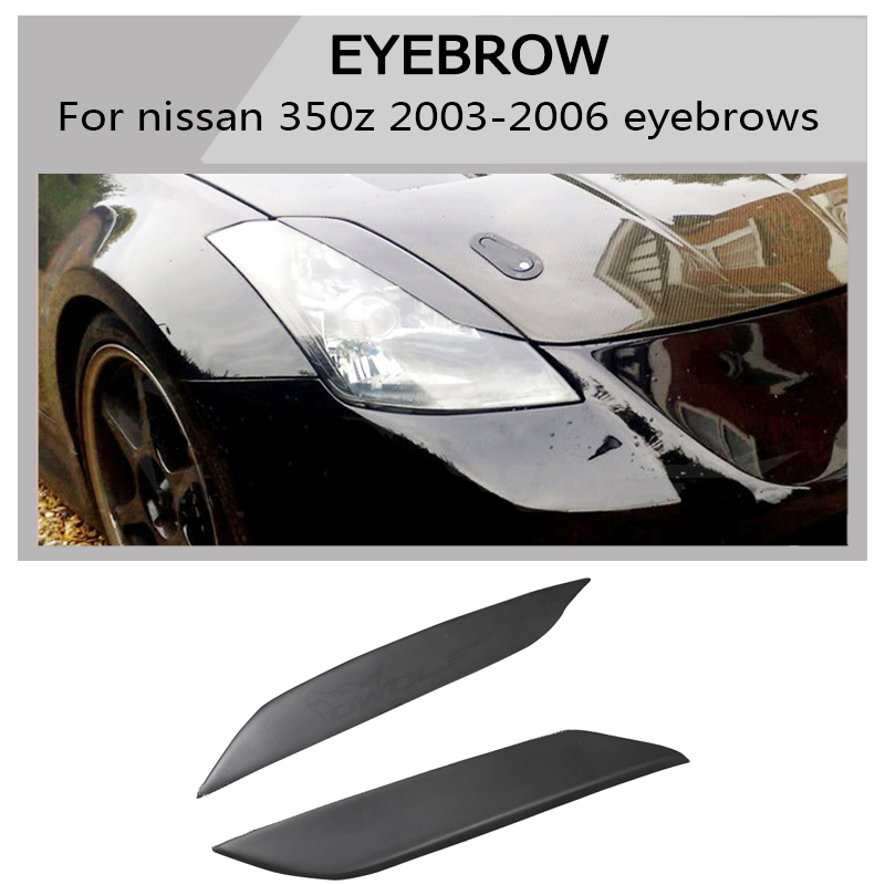 350z frp eyebrow all Car headlight lips brows High quality Fit For Nissan 350Z Z33 Coupe 03-06 free shipping image