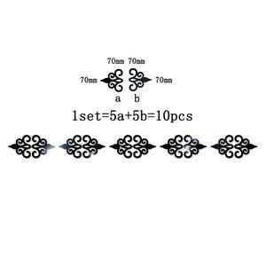 Image 5 - 10PC רב גודל כיכר עצמי דבק אריחי 3d מראה קיר מדבקות מדבקות פסיפס עיצוב הבית סלון מרפסת פוסטר קיר A1