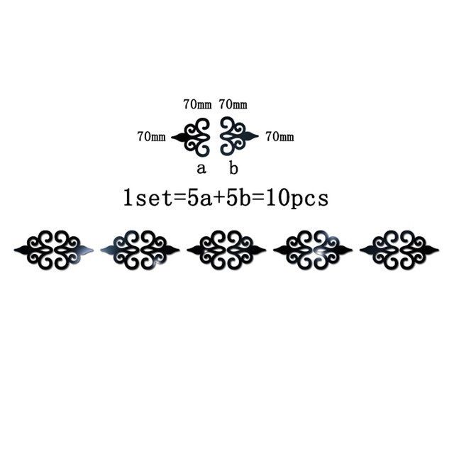 10PC Multi-size Square Self-adhesive Tiles