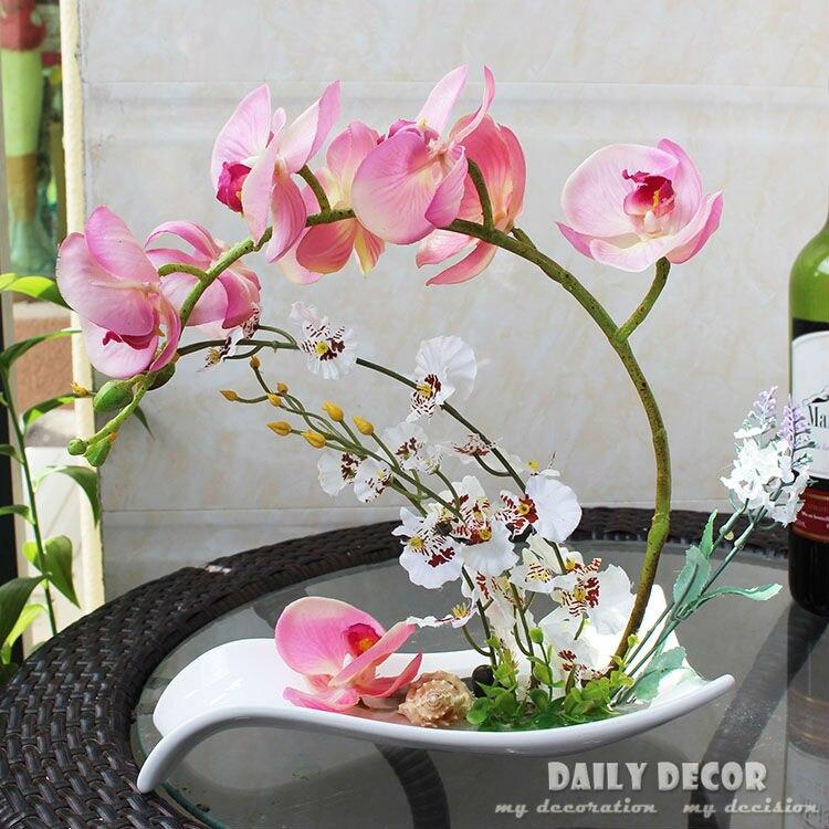 Compare prices on artificial orchids arrangements online