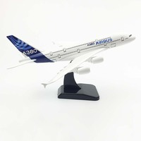 20cm Aircraft Airbus A380 Prototype Alloy Plane Model Toys Children Kids Gift for Collection