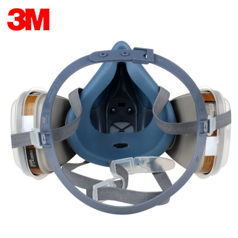 3M 7502 gas mask 9 in 1 spray paint chemical organic gas protection 6001 2091 filter for decoration dust protection in Chemical Respirators from Security Protection