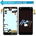 Para nokia lumia 550 screen display lcd de toque digitador quadro assembléia preto + ferramentas
