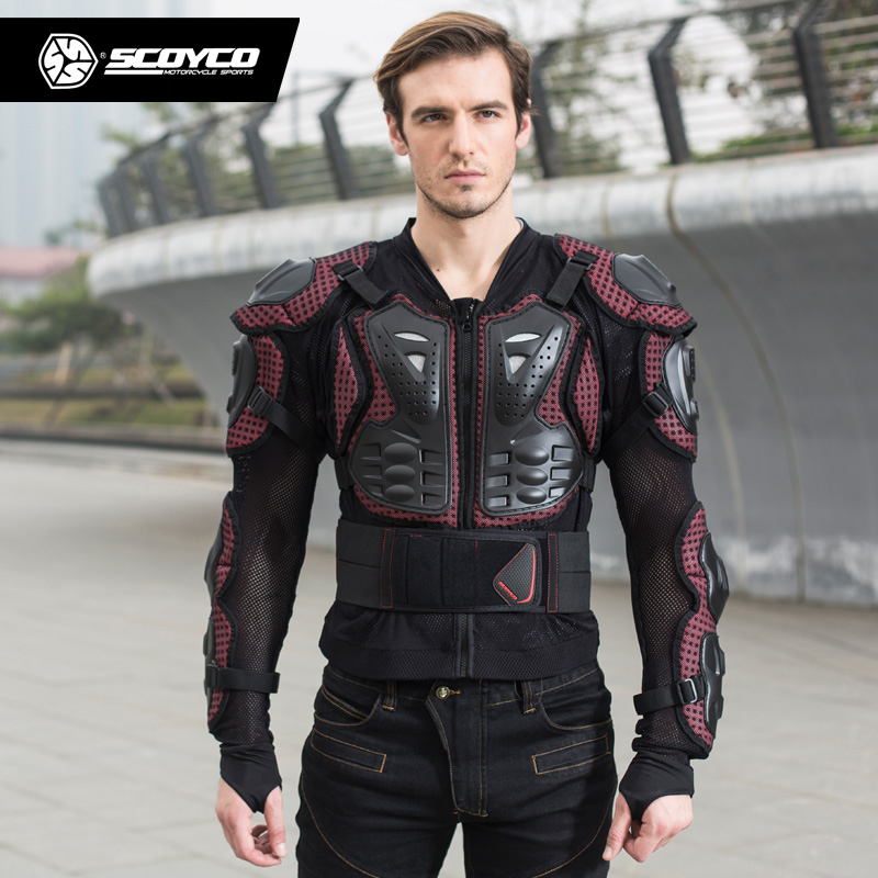 Scoyco motocross armor off-road motorcycle outdoor riding Full protective gear cross country armor Body AM02 herobiker armor removable neck protection guards riding skating motorcycle racing protective gear full body armor protectors