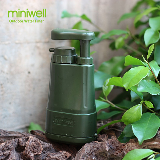 miniwell outdoor water filter survival water purification, portable pump fresh water filter miniwell portable water purifier
