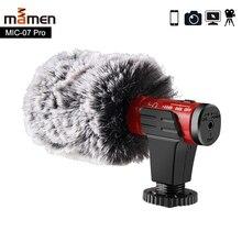 Mamen 4 cor gravação de vídeo microfone para câmera dslr smartphone osmo bolso youtube vlogging mic para iphone android dslr cardan