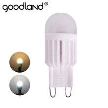 Lámpara LED G9 de 220V, 5W, 7W, Mini G9 bombilla LED, lámpara de araña de cristal de alta potencia de cerámica, iluminación regulable de 360 grados