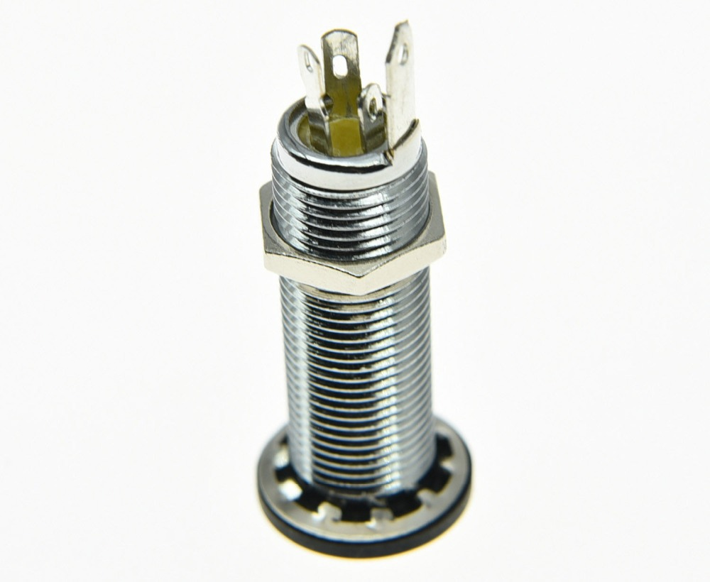 small resolution of chrome copper stereo guitar bass barrel jack cylinder input output jack 4 poles in guitar
