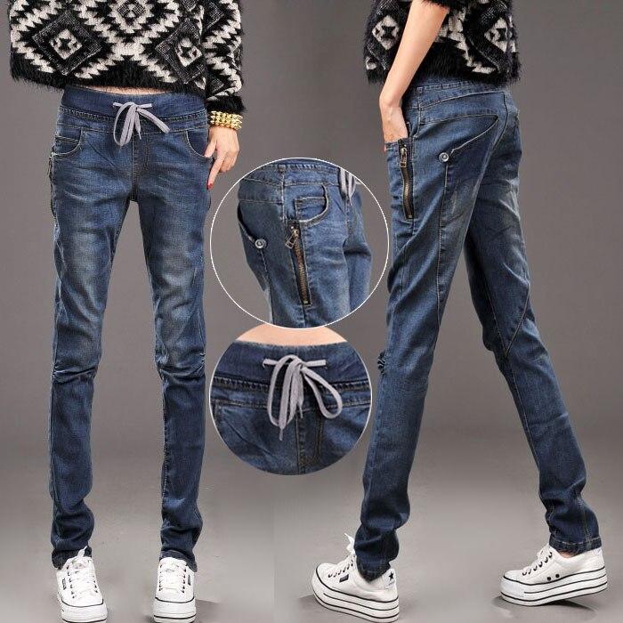 Style coréen Femme Streetwear Jeans Pantalon femmes noir bleu Jean Pantalon pour dames Pantalon Jeans Femme Hip Hop Jens Mujer
