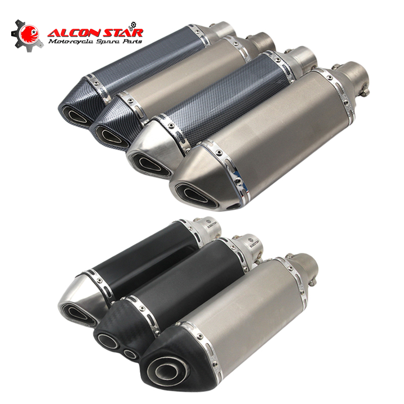 Alconstar- Universal Motorcycle Dirt Bike Exhaust Escape Modified Scooter Akrapovic Muffle Fit for Most ATV