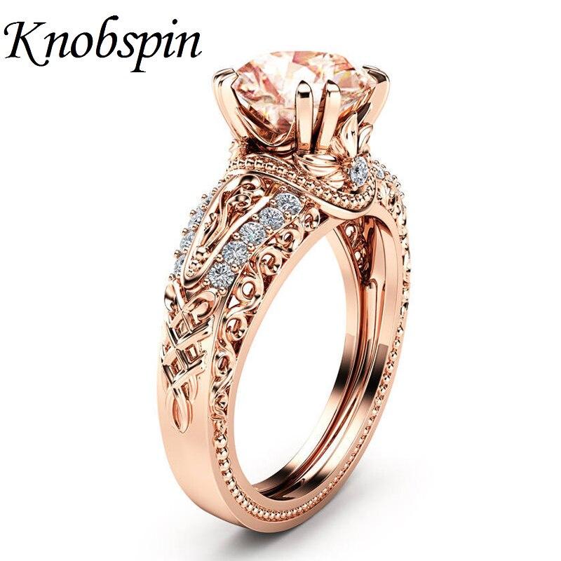 Offre spéciale mode dames fleur bleu/blanc Zircon anneau plaqué or Rose/argent couleur nouveau Design femmes bijoux taille 6-10 anillos