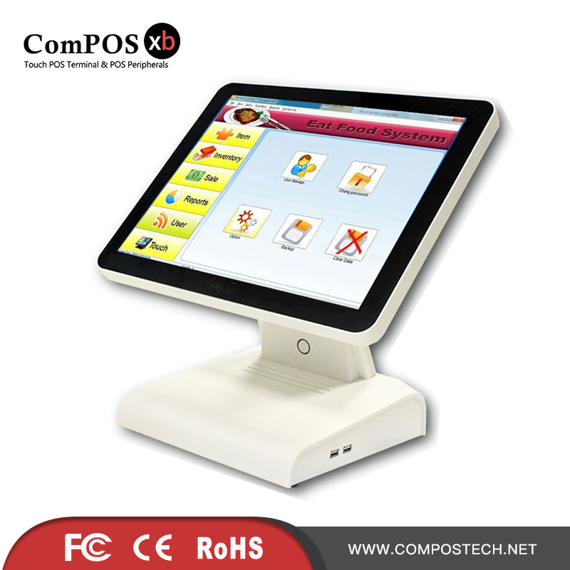A 15 Inch WIFI And MSR POS Machine Multi Function Smart Payment Systems Touch Cashier