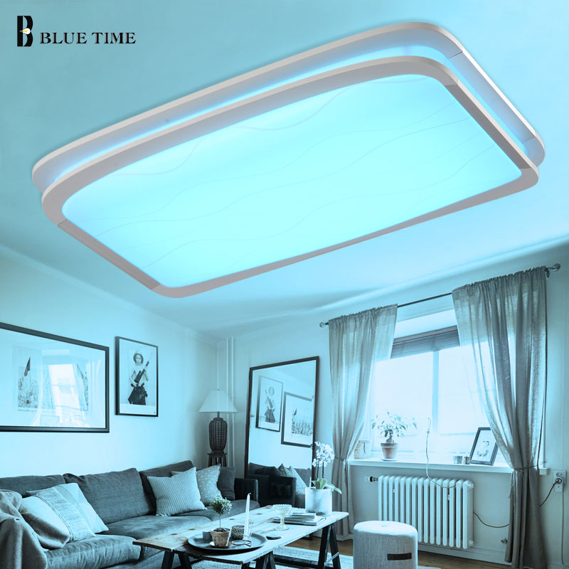 RGB Modern Led Ceiling Light For Living room Dining room Bedroom Light Fixtures Chandelier Ceiling Lamp Indoor Home AC110 220V noosion modern led ceiling lamp for bedroom room black and white color with crystal plafon techo iluminacion lustre de plafond