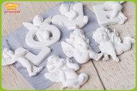 Angels Mold Mold Letters Angel Fragrance Wax Mold Soap Mold Handmade Chocolate Fondant Mold