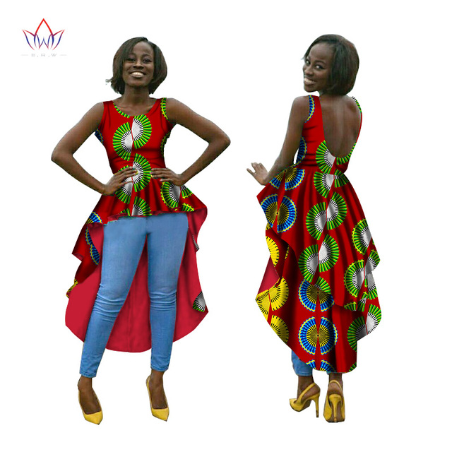0453b243cd7b9 African Dresses for Women O-Neck Backless Dresses Women Party Dresses Maxi  Dress Dashiki Plus Size Women Clothing 6XL BRW WY614