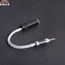 OKCSC 2.5mm Balans Interface Beurt om 3.5mm Adpter Kabel 8 Core Enkele Plated Silver Audio Wire Cord Voor AK380 N5 PAW5000 HM901(China)