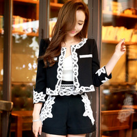 Original New Styles 2016 Brand Spring And Autumn Short Coat Plus Size Casual Fashion Black Jacket