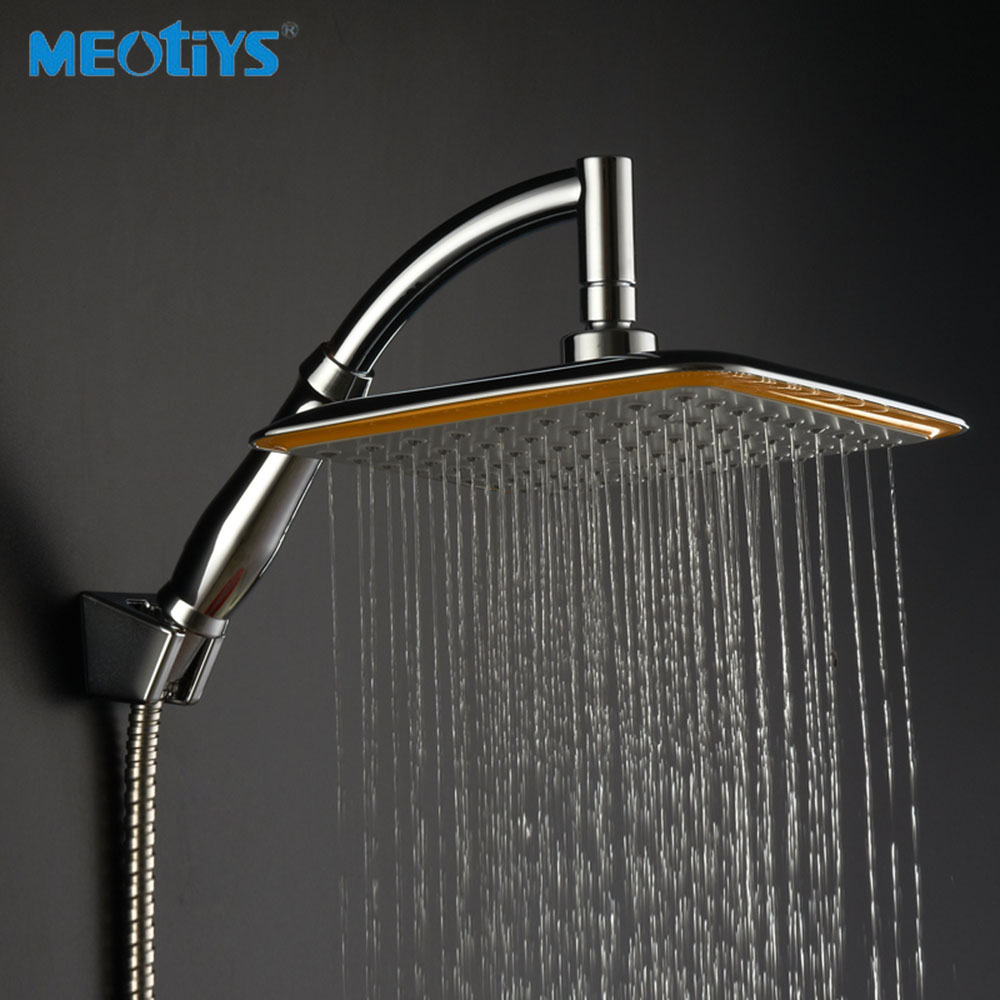 Bathroom showers head - Meotiys Bathroom Shower Head Unique Brass Hand Held Shower Head Chrome Square Shape Sprayer Rainfall Shower