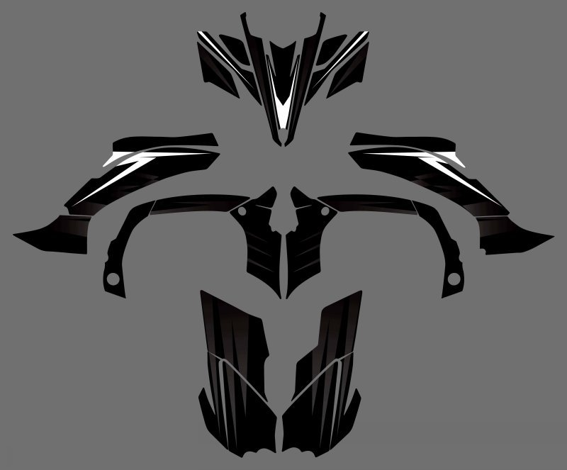 0343 New Style DECALS STICKERS Graphics Kits For Yamaha YFZ450R ATV 2009 2010 2011 2012 YFZ450 R YFZ 450R