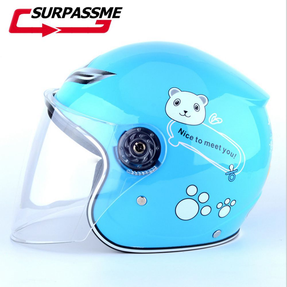 Helmets Motorcycle Clearance Sale Cheapest Price Kids Baby Helmets Safe Full Face Children Motorcycle Bicycle Muffler Cartoon