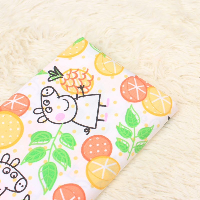 half meter cartoon little pig print cotton fabric, handmade DIY garment dress cloth CR-A200
