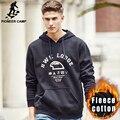 Pioneer Лагерь сгущает руно капюшоном толстовки мужчин бренд одежды высокого качества новое прибытие 100% хлопок мужской черный Футболка 677091