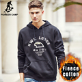 Pioneer Camp thicken fleece hooded hoodies men brand clothing high quality new arrival 100% cotton male black Sweatshirt 677091