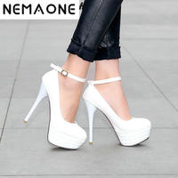 2014 Of The Latest Design Fashion Sexy Ladies Platform Pump High Heels Large Size 34 41