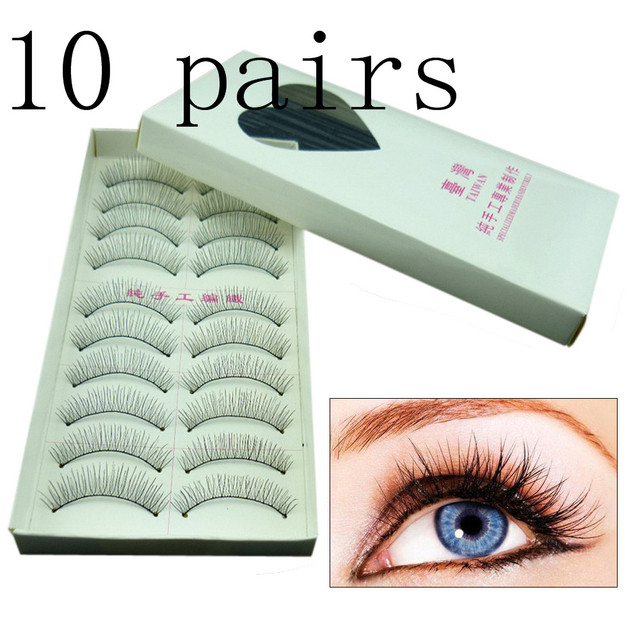 570db4b68cb OutTop Women's Beauty 10 Pairs Natural Fashion Eyelashes Eye Makeup  Handmade Long False Lashes Sparse Eye Lashes Drop Ship