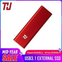 THU мини Портативный SSD 128 ГБ 256 512 1 ТБ USB3.1 400 МБ/с. внешний твердотельный накопитель для портативных ПК Тетрадь (красный)