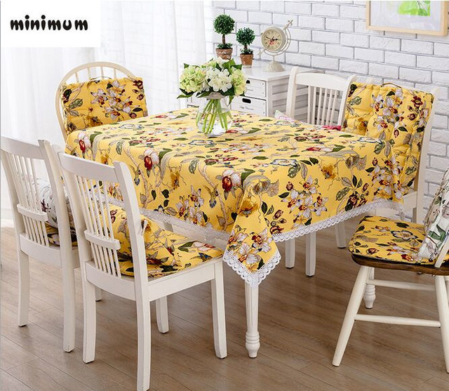 Embroidery Manual American Village Table Cloth Cotton Non Slip Tablecloth  Fresh And Elegant Coffee Cloth