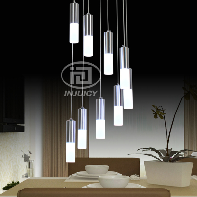 Simple Modern Circular Acrylic Led Pendent Lamp High Definition Restaurant Cafe Staircase Decorative Pendant