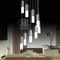 Simple Modern Circular Acrylic LED Pendent Lamp High Definition Restaurant Cafe Staircase Decorative Pendant Lamp
