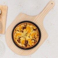 Pizza de madera cáscara color natural placa pastel sirviendo Junta panqueque hornear Cúter soporte Bandejas de piedra para la pizza cocina Herramientas
