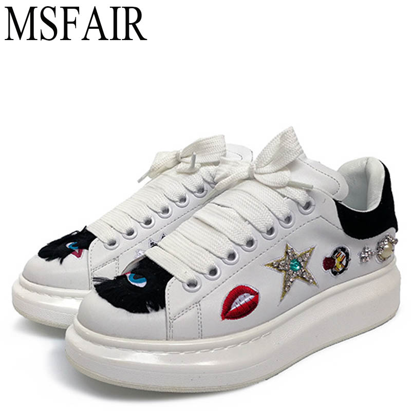 MSFAIR 2018 Womens Sport Shoes Woman Brand Genuine Leather Skateboarding Shoes For Women ...
