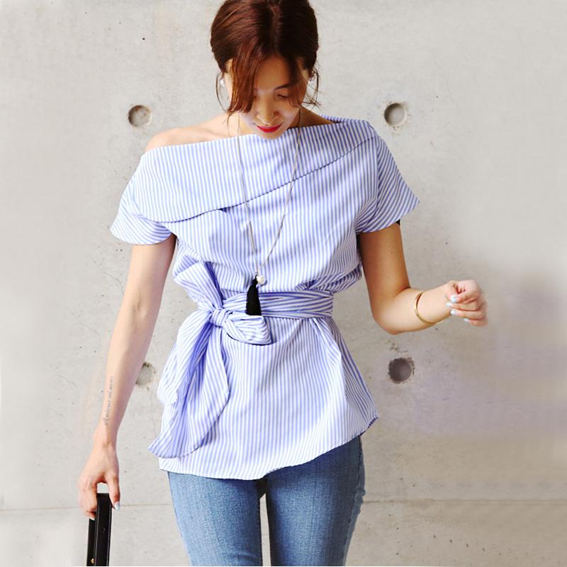 HTB1QwOkSFXXXXarXFXXq6xXFXXXY - Summer office blouses Off Shoulder Women slash neck