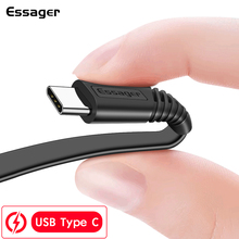 Essager USB Type C Cable For Samsung Xiaomi Redmi Note 8 7  K20 OnePlus Pro Fast Charging Cord USBC Type-c USB-C Charger