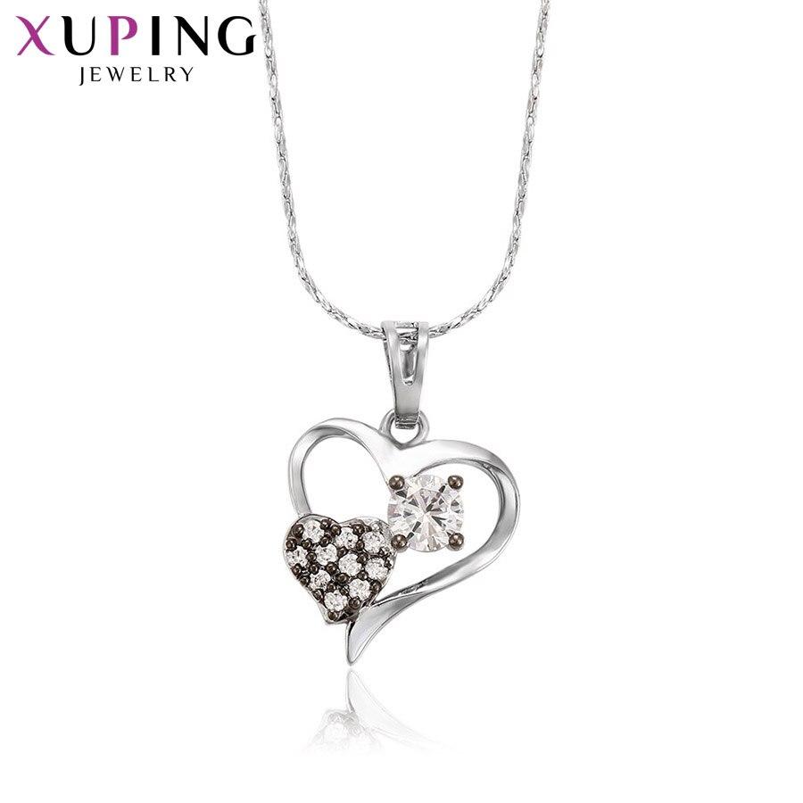 11,11 сделок Xuping Роскошные модные подвеска в форме сердца родий Цвет покрытием украшения для Для женщин подарок на день матери M38-30118