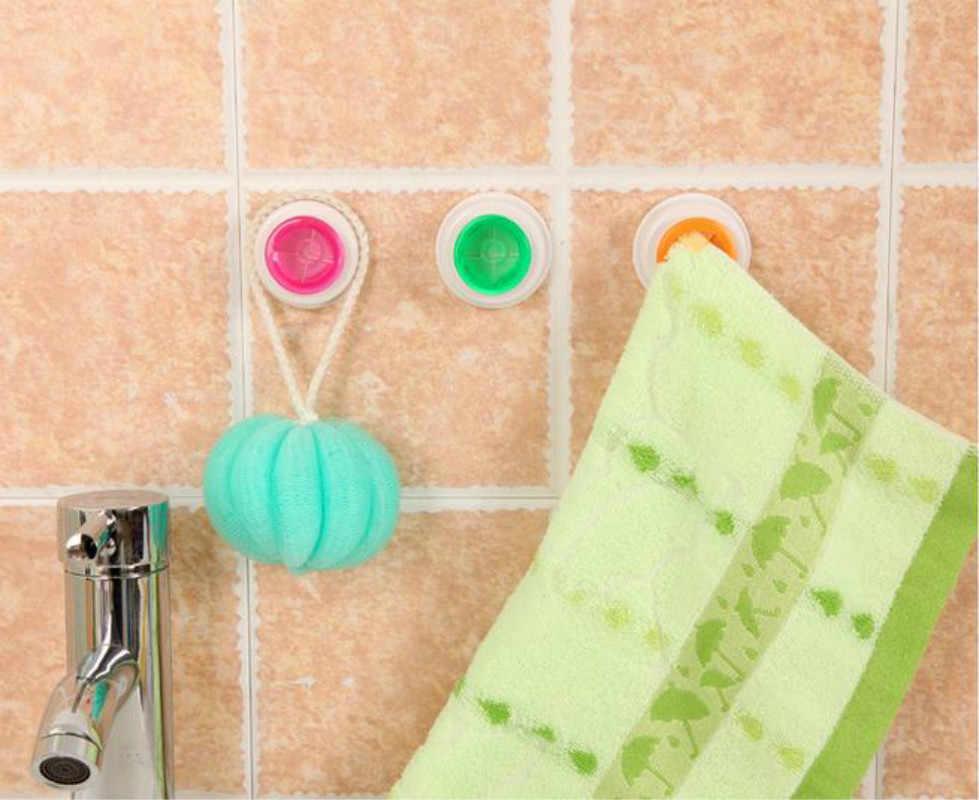 Zelfklevende Multi-gebruik Doek Clip Lui Handdoek Haken Push-in Wall Mounted Handdoekenrek Handdoek Houder voor Keuken of Badkamer