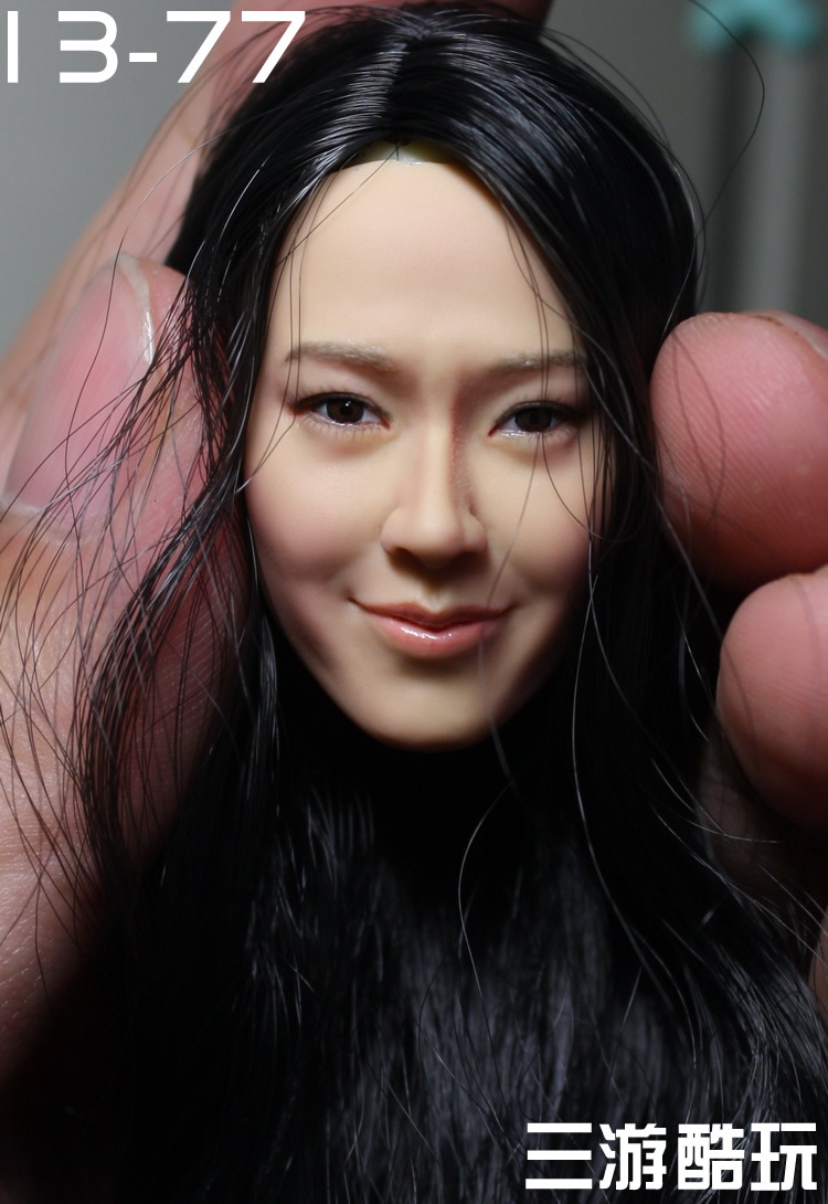 KUMIK 1/6 scale female head shape for 12 action figure doll accessories doll head carved not include the body and clothes 13-77 die shi spot burning the soul of a model burns 1 6 head carved figures are base contains mask