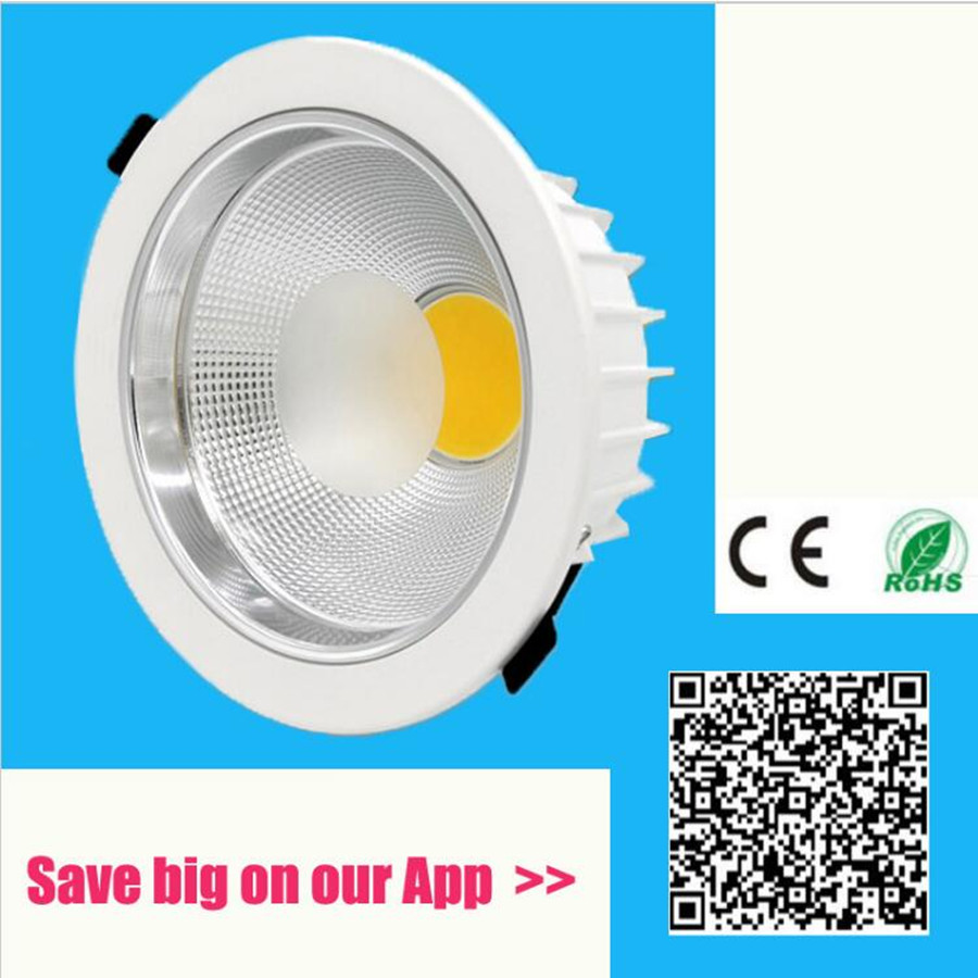2018 lampada Haute qualité ultra luminosité COB led downlight ip65 lustre rond dimmable 110v-240v 5W 7W 10W 15W 30w 50w 60w
