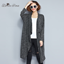 BeilneRosa 2016 Plus Size Women's Trench Spring and Autumn Casual Pure Color Irregular Hem Female Coat Fit L~4XL TYW095