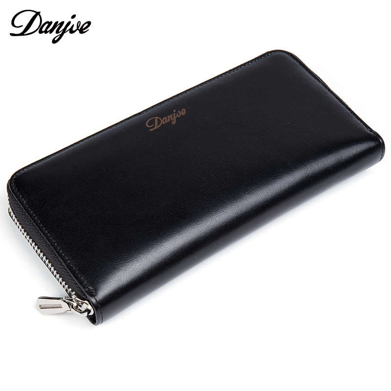 DANJUE Genuine Leather Men Wallets Long Coin Purses Big Capacity Card Holder Cowhide Day Clutch Phone Money Bag new big brothers money cigarette card case box holder