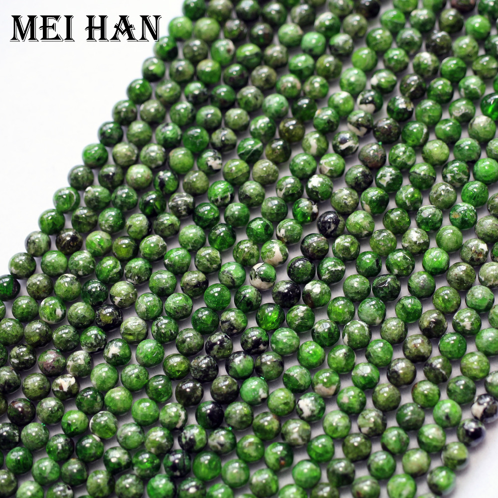 Meihan Free shipping 2 strands set 5 5 0 2mm natural Diopside smooth round charm gemstone