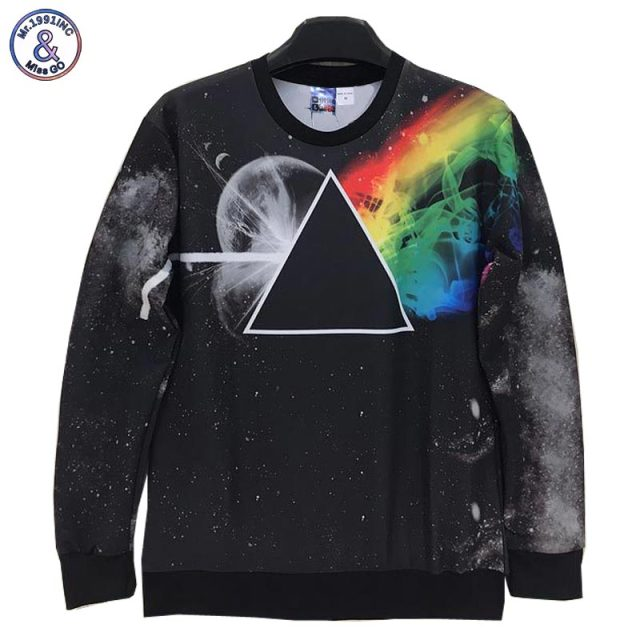 Mr.1991INC Triangle planets Printed Men/women 3d sweatshirts casual Space/Galaxy hoodies hoody tops W185