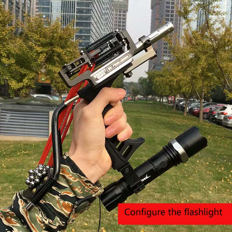 2017 High Quality Laser Slingshot Black Hunting Bow Catapult Fishing Bow Outdoor Powerful Slingshot for Shooting Crossbow Bow high quality portable black bow slingshot catapult hunting shooting fishing reel protective wristband metal buckle