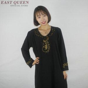 Image 4 - Muslim dress women clothing kaftan dubai abaya islamic clothing arabic dress abayas for women   AE001