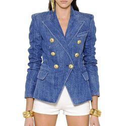 Chaqueta profesional elegante de excelente calidad para mujer chaqueta vaquera con botones de León