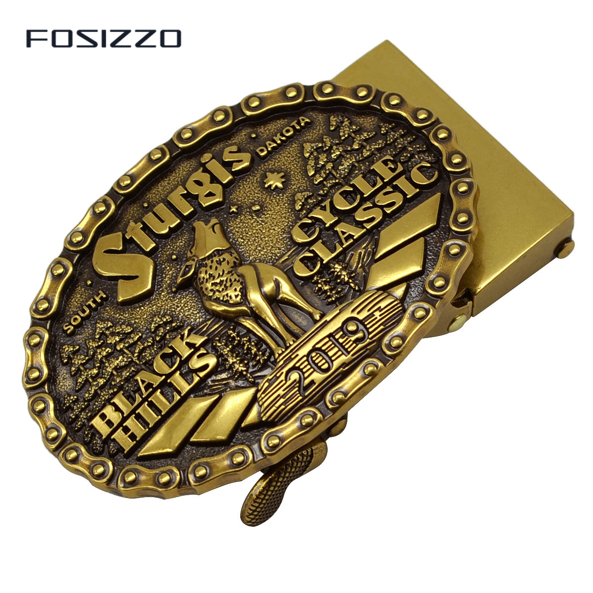 FOSIZZO New Fashion High Quality Men's Buckle Zinc Alloy Automatic Buckle 3.6CM #0166